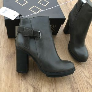 NWT Grey Booties